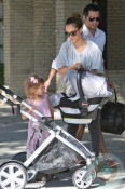 Jessica Alba and Cash Warren with daughters Honor and Haven