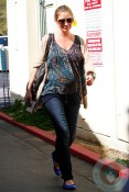 A pregnant Rebecca Gayheart out in LA