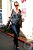 A pregnant Rebecca Gayheart out in LA