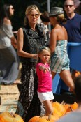 Heidi Klum and daughter Leni at Mr. Bones Pumpkin Patch