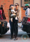 Miranda Kerr with son Flynn in NYC