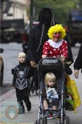 Naomi Watts and Liev Schreiber out with sons Sammy and Sasha for Halloween in NYC