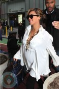 Pregnant Beyonce out in NYC