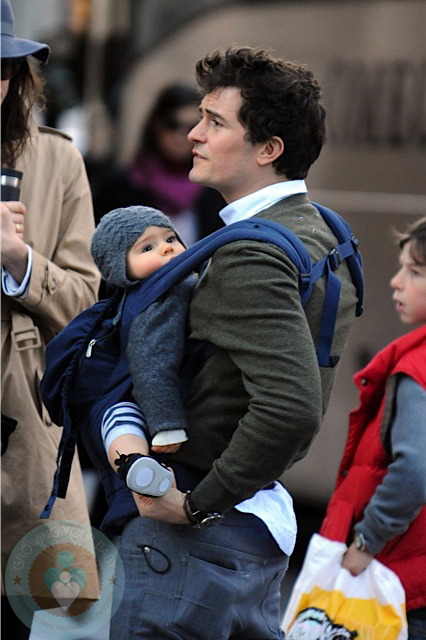 Orlando Bloom Is A Baby Wearing Daddy