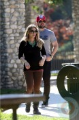 Pregnant Hilary Duff with husband Mike Comrie