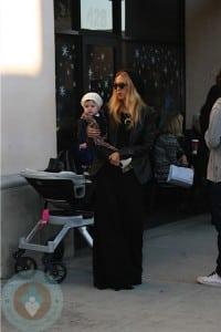 Rachel Zoe and son Skylar Berman in LA