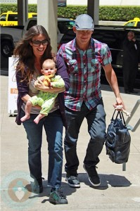 Alanis Morissette with husband Mario and son Ever