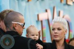 Carey Hart and Pink with daughter Willow @Happy Feet Premiere