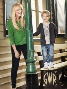 Emma Bunton with son Beau for Argos