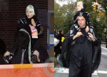 Liev and son Sasha Schreiber out for Halloween in NYC