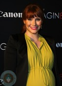 A very pregnant Bryce Dallas Howard at When You Find Me screening