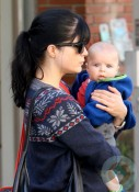 Selma Blair and Arthur Saint Bleick at Yoga