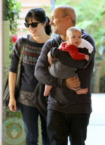 Selma Blair with partner Jason and son Arthur Saint Bleick at Yoga