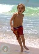 Jayden James Federline at the Beach in Rio