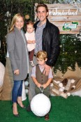 Jessica Capshaw with Christopher, Gavin, Luke and Eve Gavigan at Baby2Baby event