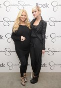 Jessica Simpson and Ashlee Simpson at the launch of Jessica's collection