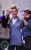 Kelly Rutherford on Gossip Girl set NYC