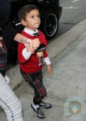 Kingston Rossdale arrives at the Harajuku Mini Collection for Target launch