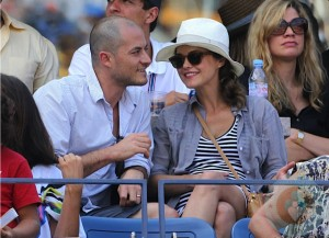 Pregnant Keri Russell and Shane Deary  At US Open