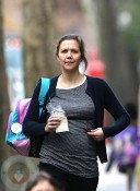 Pregnant Maggie Gyllenhaal out in Brooklyn