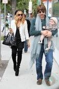 Rachel Zoe and Roger Berman with son Skylar in LA