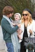 Rachel Zoe and Roger Berman with son Skylar in LA 2