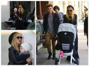 Rachel Zoe and son Skylar Berman shop in LA