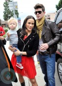Robin Thicke and Paula Patton at the Harajuku Mini Collection for Target launch