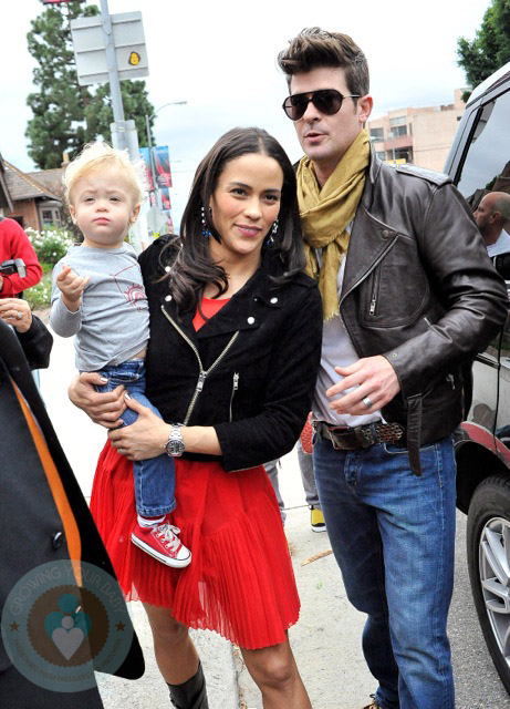 How Much Does A Car Weigh >> Robin Thicke and Paula Patton at the Harajuku Mini Collection for Target launch - Growing Your Baby