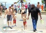 Sean P & Jayden James Federline @ the Beach in Rio