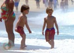Sean P & Jayden James Federline Play at the Beach in Rio