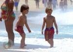 Sean P & Jayden James Federline Play at the Beach in Rio