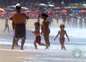 Sean P & Jayden James Federline at the Beach in Rio