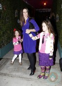 Soleil Moon Frye and daughters Poet and Jagger at Harajuku Mini Collection for Target