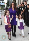 Soleil Moon Frye and daughters Poet and Jagger at Harajuku Mini Collection for Target launch