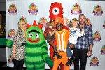 Tori Spelling and Dean McDermott with their kids at Yo Gabba Gabba!