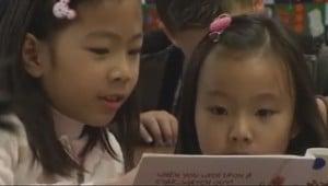 Twins at Blandford Elementary School