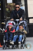 Usher with sons Usher Raymond V and Naviyd