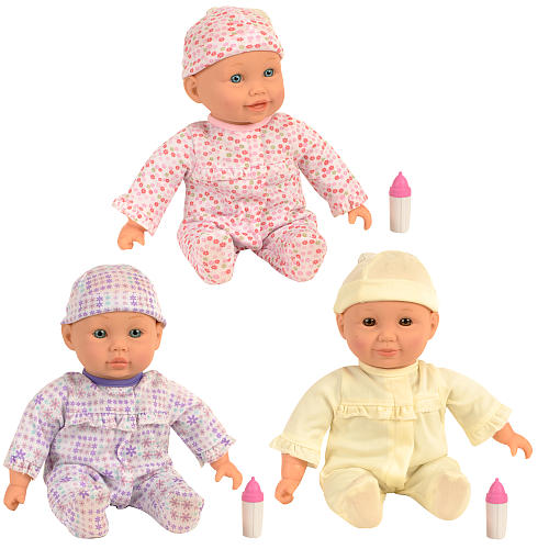 You & Me Interactive Play & Giggle Triplet Dolls