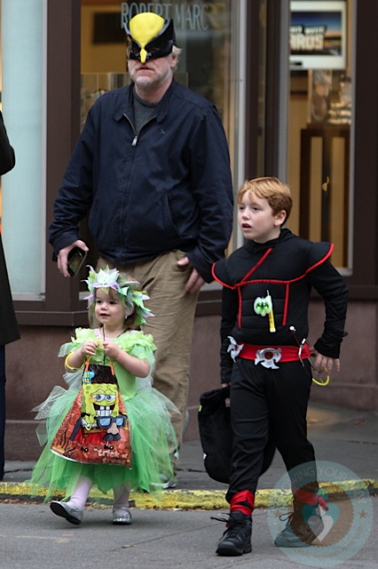 Philip Seymour Hoffman With Daughter Willa And Son Cooper