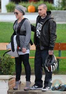 Pink and Carey Hart hang out at the park