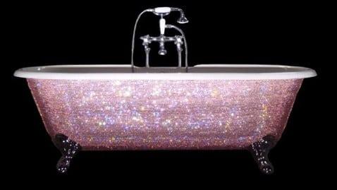 swarovski baby bathtub