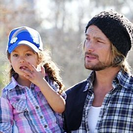Daddy Date! Gabriel Aubry and Daughter Nahla Play At The Park