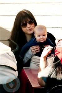 Selma Blair and son Arthur eat lunch at the Santa Monica Pier
