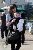 Selma Blair and son Arthur stroll at the Santa Monica Pier