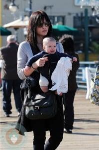 Selma Blair and son Arthur stroll at the Santa Monica Pier