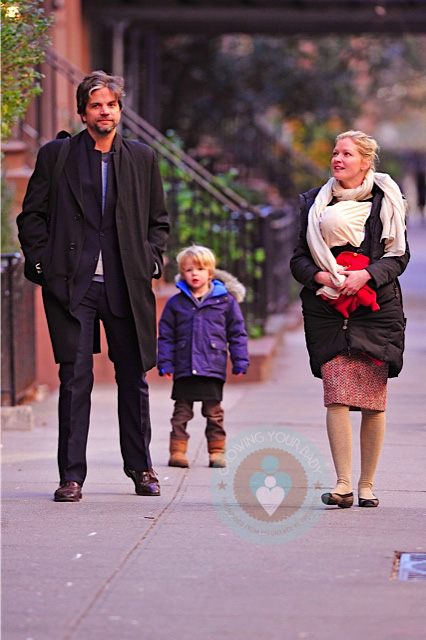 Gretchen Mol With Daughter Winter Son Ptolemy And Husband