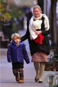 Gretchen Mol with daughter Winter & son Ptolemy