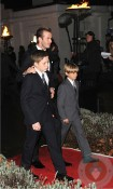 David Beckham with his sons Brooklyn and Romeo at the Sun Military Awards