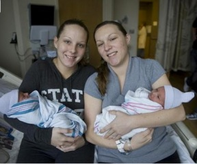 Twin Sisters Deliver Baby Boys Just Minutes Apart